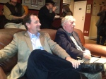 Patrick and Dusty Saunders at SPJ Colorado Pro's first Fireside Chat.