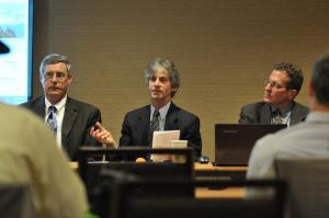 Panelists Jim Anderson, left, Steve Zansberg and Jeff Roberts at the Feb. 21 FOI session during the CPA convention. CREDIT:  Thomas Cooper of Lightbox Images